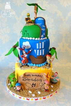 Jake and the never land pirates - by Cake Sweet Cake By Tara @ CakesDecor.com - cake decorating website