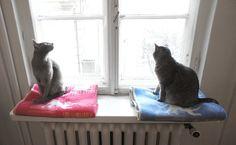 """""""Kissat ja kerät"""" wool blankets. Design by Polkka Jam & Lapuan Kankurit 2013."""