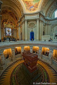 Leglise du Dôme - Tombeau de Napoléon - Napoleon's Tomb.  This is a really cool place to visit.  Notice how tourists must bow to the tomb as they walk in.  Napoleon's arrogance knew no bounds.