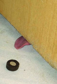 if you were wondering why the floor was wet under a closed door . . .
