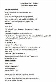 Human Resource Management Resume Fair Beginner Actor Resume Template In Word  Free Actor Resume Template .