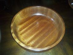Handmade woodturning. Sapele wood bowl - great chatoyance