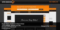 GfxDesign Unique & Creative PSD Template
