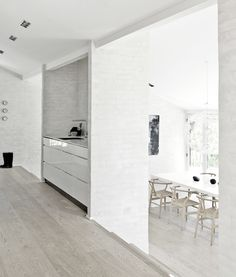 Minimalist black and white interior décor by NORM