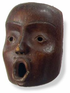 Anthropomorphic Mask. British Columbia, west coast of Vancouver Island. Collected 1778 by Captain James Cook