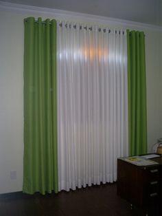 cortinas para sala com porta de vidro 6