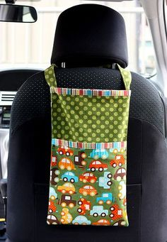 seat organizer love this! Need to make 2 for our up coming road trip