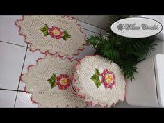 Tampa do Vaso de Crochê - Jogo de Banheiro 04 - YouTube