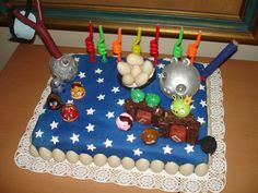Cake Angry Birds Star Wars--just an idea of the possibilities.