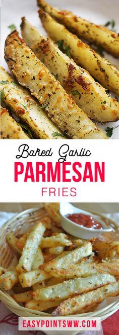 Baked Garlic Parmesan Fries ♥ 5SmartPoints