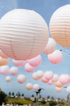 Pastel ombre paper lanterns