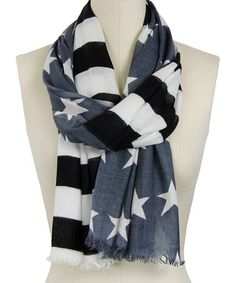 Take a look at this Gray Stars & Stripes Scarf by In Things on #zulily today!