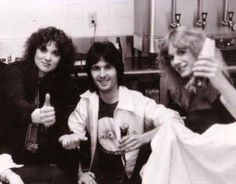 Peter Rodman with Ann and Nancy Wilson of Heart.