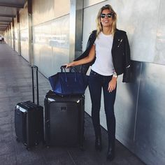 """Natasha Oakley.. travel style #tumitravel luggage #TUMIGlobalCitizens"""""""