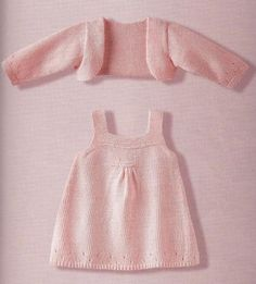 Best 11 Ravelry: Project Gallery for Combinaison Layette pattern by Phildar Design Team – SkillOfKing. Baby Knitting Patterns, Knitting For Kids, Baby Patterns, Free Knitting, Crochet Patterns, Summer Knitting, Girls Knitted Dress, Knit Baby Dress, Knitted Baby Clothes