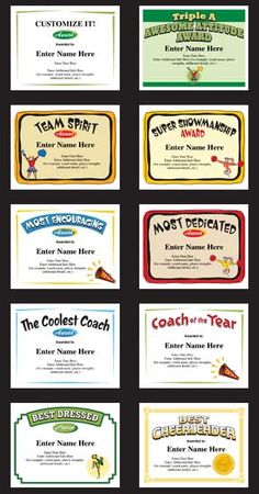 Fantasy football award certificates from the cranky commissioner cheerleading certificates and cheerleader award templates a perfect keepsake to recognize a great season of yadclub Gallery