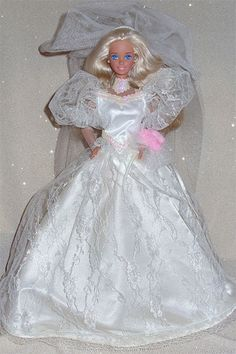 Our favorite wedding-day Barbies: Barbie Fantasy (1989)- Hahaha I had this barbie and she was a hot mess on her wedding day!