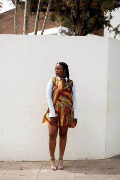 African outfit idea #ankara #africandress African Dress, Ankara, Work Wear, Winter Outfits, Outfit Ideas, Summer Dresses, How To Wear, Style, Fashion