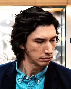 "cosmo-gonika: ""driverdaily: ""Adam Driver at the Breitling Boutique on June 2019 in New York City (via watchonista on IG) "" HHHHGGGGNNNNN "" Reylo, Starwars, Pretty People, Beautiful People, Art Visage, Kylo Ren Adam Driver, Most Beautiful Man, Amazing Man, Famous Men"