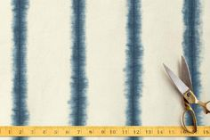 Hand-dyed Shibori Stripes Fabric by Flora Poste Studio at minted.com