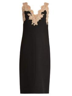 V-neck lace-trimmed midi dress   Valentino   MATCHESFASHION.COM