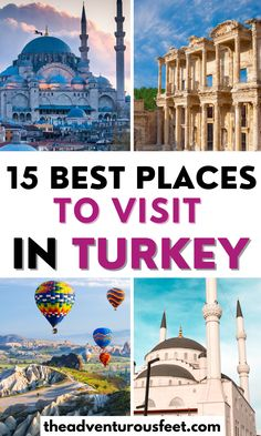 Traveling to Turkey and wondering what to do? Here are the most beautiful places in Turkey that you shouldn't miss.| best places to visit in turkey| Turkey places to visit| Travel destinations in Turkey| Bucket list places in Turkey| Best cities to visit in Turkey| Turkey cities to visit| best things to do in turkey| tourist attractions in turkey| Turkey tourist attractions | what to do in Turkey| must visit place in Turkey | turkey bucket list #theadventurousfeet Beautiful Places To Visit, Cool Places To Visit, Turkey Tourist Attractions, Amazing Destinations, Travel Destinations, Turkey Places, Visit Turkey, Underground Cities, Air Balloon Rides