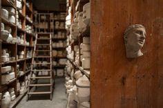 """Sèvres CitéCéramique @sevresceramique #CoulissesMV #DayInTheLife La réserve des moules à Sèvres """"le Magot"""". (c) Mathieu Ferrier et Vincent Luc #MuseumWeek"""