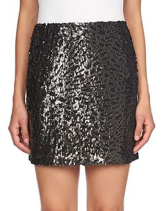 1 STATE Sequined Mini Skirt
