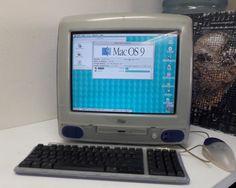 iMac G3 M4984 Tray loading Grape w/ Orig Keyboard & Special Hockey Puck 333mhz #Apple