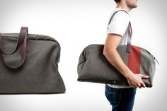 Everlane Weekender Bag - Uncrate one of my daily sites Men's Fashion, Mens Toys, Presents For Men, Cool Items, Leather Handle, Swagg, Types Of Fashion Styles, Leather Backpack, Pouch