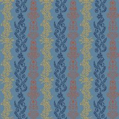 Tapete MADS blau - BORAS Wallpaper -