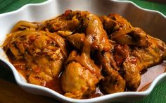 There are so many versions of Poulet a L'Haitienne, Chicken in Creole Sauce, or Poule en Sauce and many names for a simple chicken dish. In the Haitian culture it is very common for a dish to have several names depending on which part of the country a per Creole Recipes, Cajun Recipes, Chicken Recipes, Cooking Recipes, Louisiana Recipes, Donut Recipes, Chicken Creole Recipe, Cajun Cooking, Cajun Food