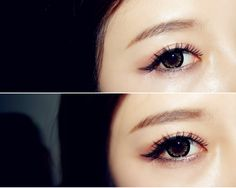 EOS Candy Magic King Size Color Circle Contact Lenses go wonderfully with gyaru dolly eye makeup. Top off with a pair of dramatic false lashes for a cute, sweet look!
