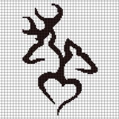 Browning Buck Love Crochet Graphghan Pattern (Chart/Graph AND Row-by-Row Written Instructions) - 02