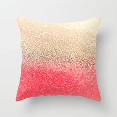 GATSBY CORAL GOLD Throw Pillow by Monika Strigel - $20.00