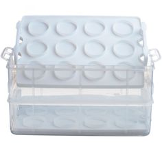 Cupcake Cookie Storage Carrier Box Dessert Container Basket Plastic Taker Saver