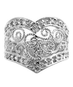 @Overstock.com - Kate Bissett Silvertone Vintage CZ Estate-inspired Ring - Click here for Ring Sizing ChartFashionable silvertone vintage-look cubic zirconia ring  http://www.overstock.com/Jewelry-Watches/Kate-Bissett-Silvertone-Vintage-CZ-Estate-inspired-Ring/2504782/product.html?CID=214117 $22.49