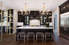 Black & Gold stunning kitchen, 2016 Homearama Show Home
