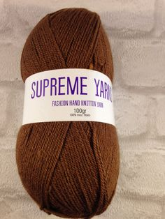 Supreme Yarns brown 100 gram ball of mixed by Bitsandbobstopia Cheap Yarn, Yarns, Supreme, Knitted Hats, Winter Hats, Knitting, Trending Outfits, Brown, Unique Jewelry