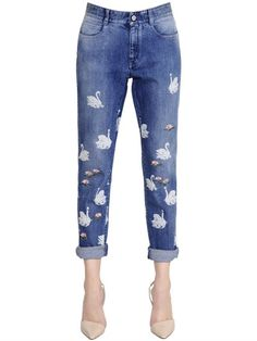 STELLA MCCARTNEY - SKINNY COTTON STRETCH DENIM JEANS - DENIM