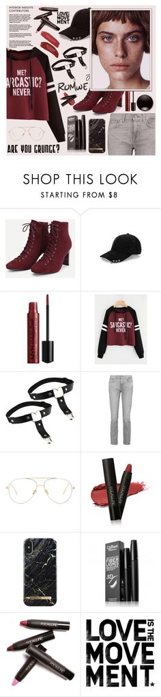 """Romwe Contest ♥"" by av-anul ❤ liked on Polyvore featuring 7 For All Mankind, Linda Farrow, iDeal of Sweden, romwe, topset and avanul"