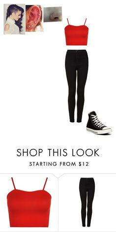 """""""Untitled #229"""" by angel2000ll ❤ liked on Polyvore featuring WearAll, Topshop and Converse"""