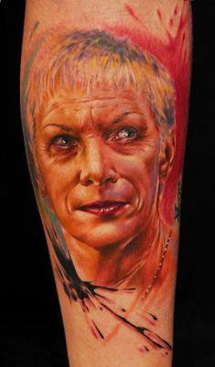 Realism Portraits Tattoo by Florian Karg - http://worldtattoosgallery.com/realism-portraits-tattoo-by-florian-karg-5/