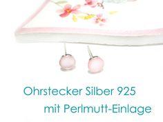 Ohrstecker+Silber+925+Perlmutt+Sterlingsilber+von+DeineSchmuckFreundin+-+Schmuck+und+Accessoires+auf+DaWanda.com