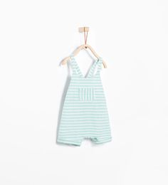 Striped romper suit with pocket from Zara