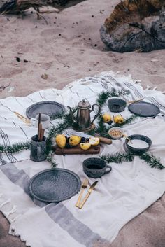 A beach picnic in Denmark – gluten-free Crêpes with caramelized pears