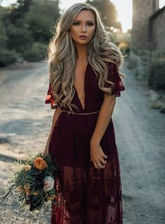 2abaa168e79 Shop Sexy Perspective Lace Plunge Maxi Romper Dress – Discover sexy women  fashion at IVRose