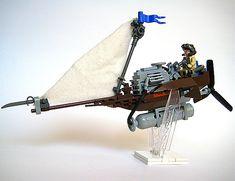Lego Plane, Lego Boat, Steampunk Lego, Jedi Cosplay, Lego Ship, Lego Mechs, Lego Construction, Lego Military, Cool Lego Creations