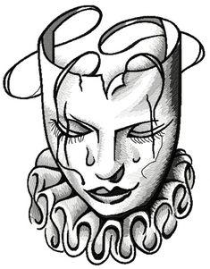 Manga Drawing Tips Sad Arlekin mask machine embroidery design Badass Drawings, Chicano Drawings, Creepy Drawings, Dark Art Drawings, Tattoo Design Drawings, Chicano Art, Pencil Art Drawings, Art Drawings Sketches, Arte Lowrider
