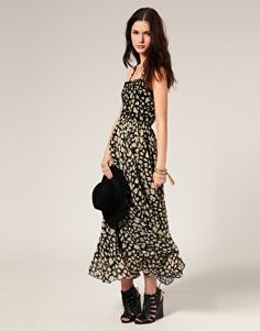 Winter Kate Maxi Dress in Floral Print with Beaded Bodice $663.70